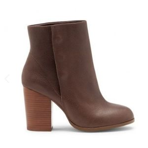 Sole Society Brown Heeled Henley Booties